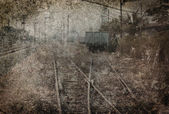Along disused rail lines photos. — Zdjęcie stockowe