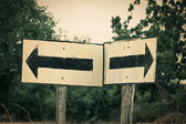 Two ways separate traffic sign. — Stock Photo