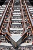 Protective equipment derailment of the train. — Stock Photo