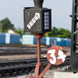 Stock Photo: Old railway switching device