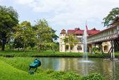 Nkhonpathom タイのサナムチャンパレス西洋建築. — ストック写真
