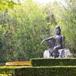 Buddhist statues in the garden — Stock Photo