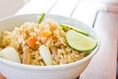 Stekt ris grönsaker av olika slag. — Stockfoto