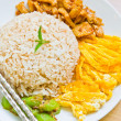 Shrimp paste Fried Rice Thailand food. — Stock Photo