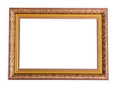 Brown and gold vintage picture frame. — Photo