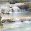 Waterfall in Erawan national park , Kanchanaburi , thailand — Stock Photo