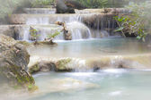 Waterfall in Erawan national park , Kanchanaburi , thailand — Foto Stock