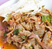 Spicy pork,Thai food. — Stock Photo