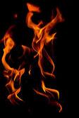 абстрактный пожар на черном фоне. — Стоковое фото
