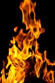 Streszczenie ogień na czarny. — Zdjęcie stockowe
