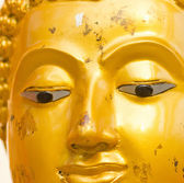 Old black buddha statue. — Stock Photo