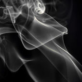 smoke on black.  — Stockfoto