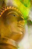 Gold Buddha on grunge  background  — Stok fotoğraf