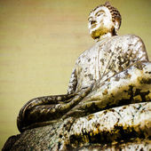 Vintage gold buddha statue . — Foto Stock