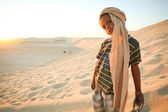 Tunisian boy in Sahara — Stock Photo