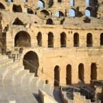 El Djem Amphitheatre auditorium — Stock Photo