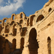 Stock Photo: El Djem, Amphitheatre at sunny day