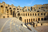El Djem, Amphitheatre, auditorium — Stock Photo