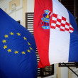 EU-Croatian flags — Stock Photo