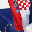 Flags Croatia & Eu — Stock Photo
