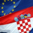 Croatian and Eu Coat of arms — Stock Photo