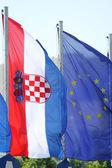 Croatian & European Union flag — Stock Photo