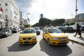 Taxicab on Avenue Habib Bourguiba — Stock Photo