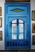 Blue window in Sidi Bou Said — Stock Photo
