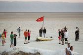 Tourist spot at salt lake  — Stock Photo