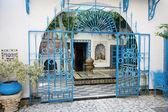 Sidi Bou Said courtyard — Stock Photo