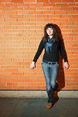 Retrato de mulher jovem — Foto Stock