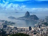 Panoramic view of Rio de Janeiro citycsape — Stock Photo