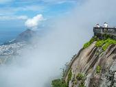 Tourists on Corcovado peak — Stock Photo