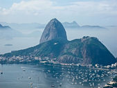 View of Sugarloaf Mountain from Mirante Dona Marta peak — Stock Photo