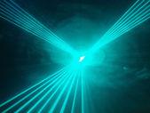 Light show rays  in disco club — Stock Photo