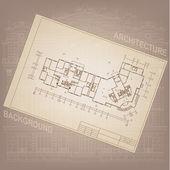 Architektoniczne tło z rysunków technicznych — Wektor stockowy
