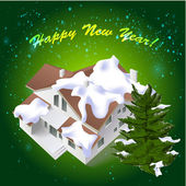 Neujahr architektonischen hintergrund — Stockvektor