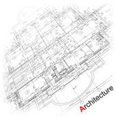 Décor architectural. partie du projet architectural — Vecteur