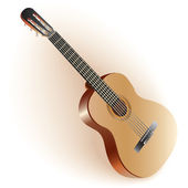Classical Spanish guitar. Isolated on white background — Stock Vector