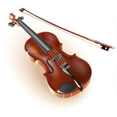 Classical violin, isolated on white background — Stock Vector