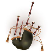 Scottish bagpipe. Isolated on white background — Stock Vector