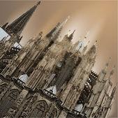 Facade of Cologne Cathedral — Vector de stock