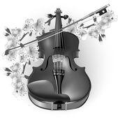 Classical violin — Stock Vector