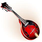 Electric mandolin — Stock Vector