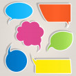 Colorful paper speech bubbles — Stock Vector #12085970