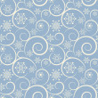 Winter blue seamless background with snowflakes — ストックベクタ