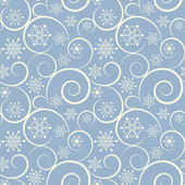 Winter blue seamless background with snowflakes — Stock Vector