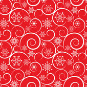 Winter red christmas seamless pattern — Stock Vector