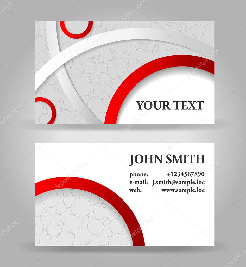 plantilla de tarjeta roja y gris vector vector de stock portarefortuna 12665384. Black Bedroom Furniture Sets. Home Design Ideas