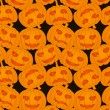 Vector de stock : Halloween pumpkins - seamless pattern